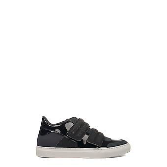 Mm6 Maison Margiela women's S59WS0020SY0274964F black leather of sneakers