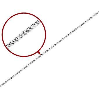 Spiga Chain Bracelet in 14K White Gold 8 Inches (2.25 mm)