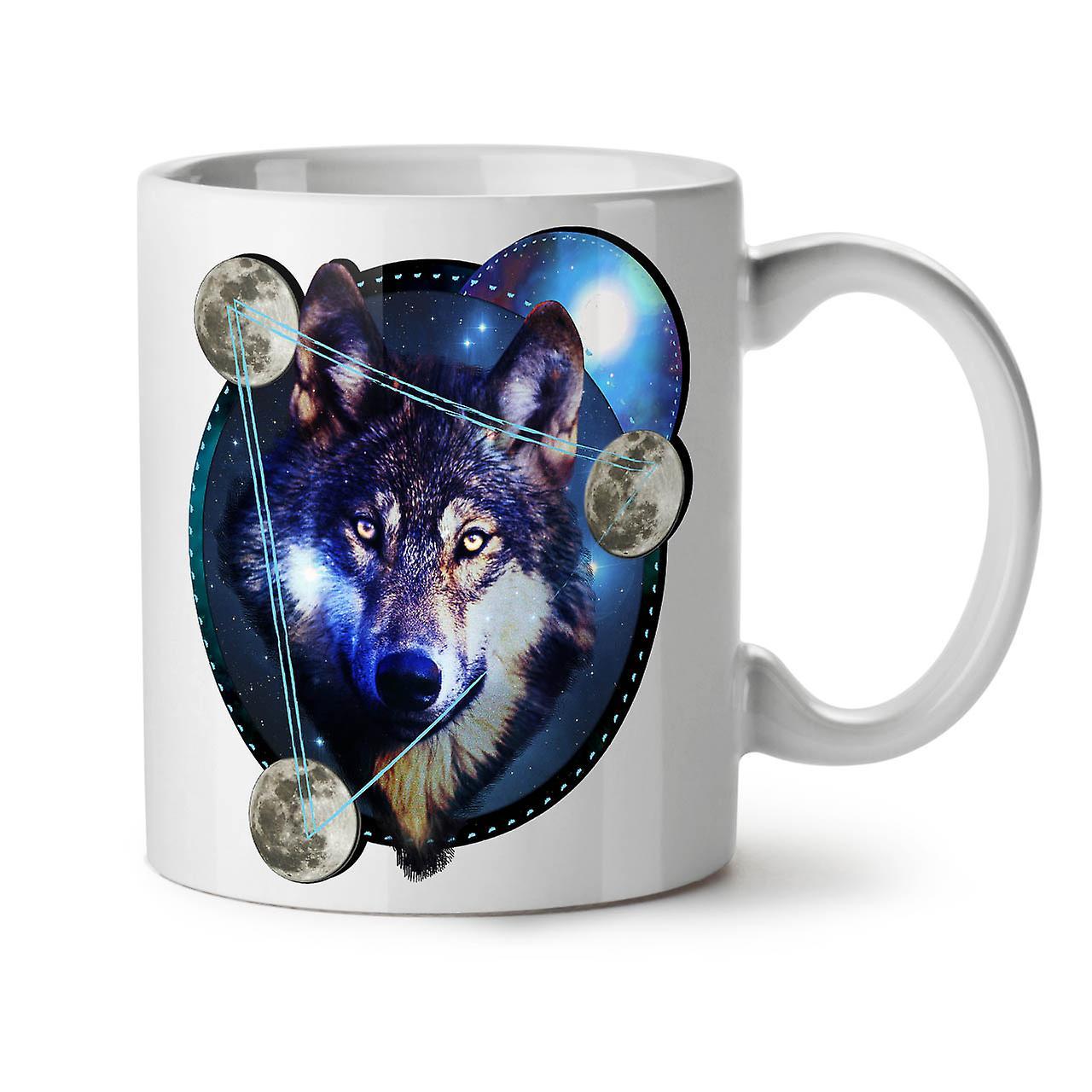 Café OzWellcoda Galaxie Nouveau Tasse Wolf Blanc 11 Thé Espace Céramique 8n0OkZPwXN