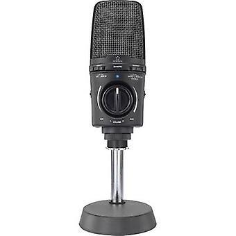 USB studio microphone Renkforce EM-860PRO Corded incl. cable, incl. clip, Steel enclosure