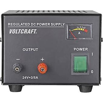 Bench PSU (fixed voltage) VOLTCRAFT FSP-1243 24 Vdc (max.) 3 A (max.) 72 W No. of outputs 1 x