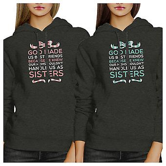 God Made Us BFF Pullover Hoodies Matching Gift Christmas Friends