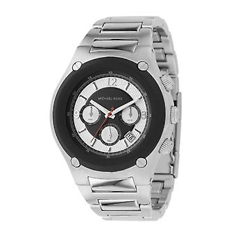 Michael Kors Mens Chronograph Silver Strap Watch MK8101
