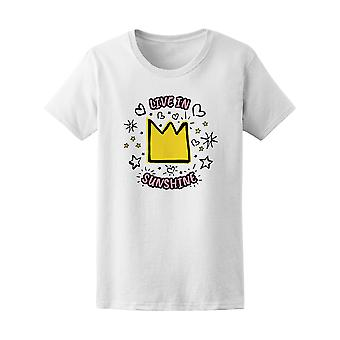 Trendy Live In Sunshine Crown Doodle Tee - Image by Shutterstock