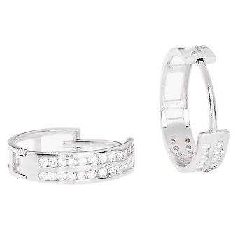 Sterling 925 Silver HOOP earrings - BLING III KING 14 mm