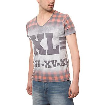 RUSTY NEAL T-Shirt print shirt Roma men's grey