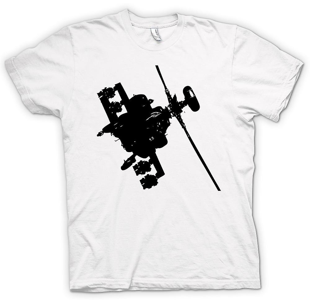 Womens T-shirt - Apache Helicopter Flying - War