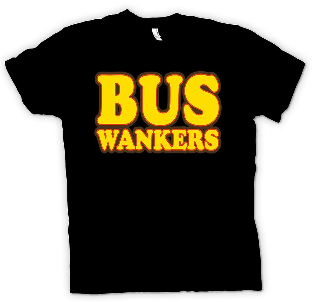 Mens T-shirt - Bus Wankers