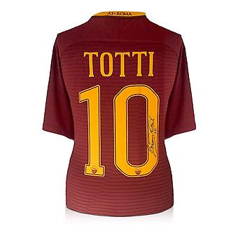 Francesco Totti Signed AS Roma 2016-17 Home Shirt: The Final Season