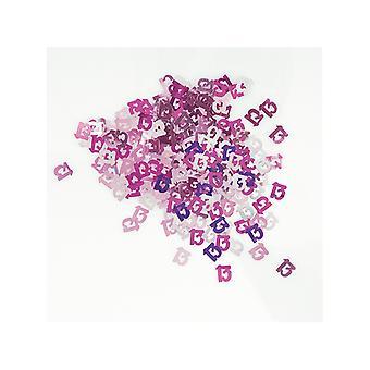Anniversaire Glitz Pink - 13e anniversaire Confetti