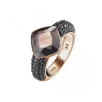 Joop women's ring silver Rosé cubic zirconia Amazonite Kirsten JPRG90657C