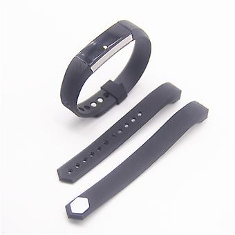 For Fitbit Alta HR plastic / silicone bracelet for men / size L Black Watch