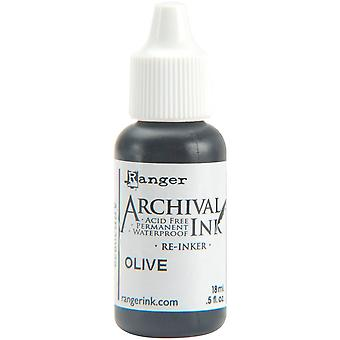 Archival Pad Re-Inker .5oz-Olive