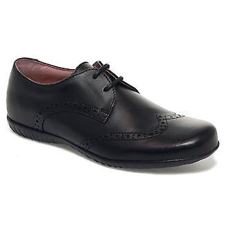 Petasil Mädchenschule Emma 5650 Spitze Schuhe schwarz