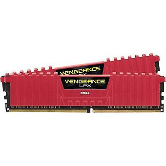 Corsair PC RAM kit Vengeance ® LPX Red CMK16GX4M2B3200C16R 16 GB 2 x 8 GB DDR4 RAM 3200 MHz CL16 18-18-36