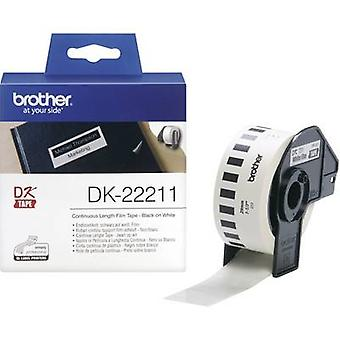Brother DK-22211 Label roll 29 mm x 15.24 m Film White 1 Rolls Permanent DK22211 All-purpose labels