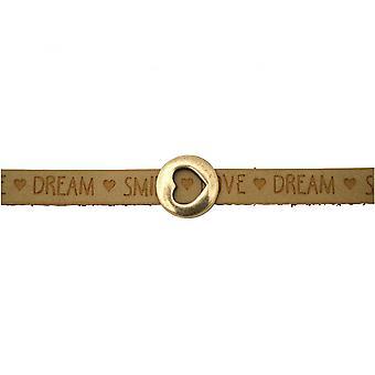 Bruin - zand - magnetisch slot - armband - hart - liefde - WENSEN-