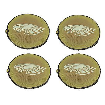 Philadelphia Eagles Set of 4 Glow In the Dark Tree Stump Stepping Stones