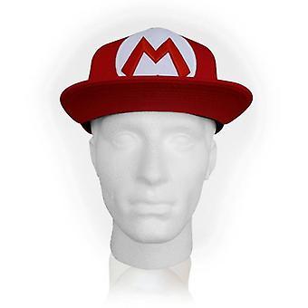 NINTENDO Super Mario Bros. Mario Symbol Snapback Baseball Cap Red (SB140251NTN)