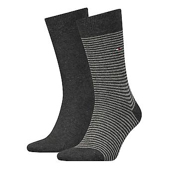 Tommy Hilfiger Striped Socks 2-Pack - Anthracite