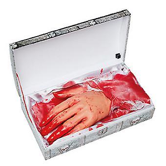 Draagbare hand met geluid 14 x 26cm enge horror decoratie Halloween-accessoire