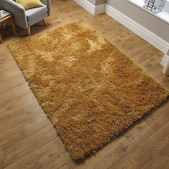 Dazzle Shaggy Rugs In Ochre