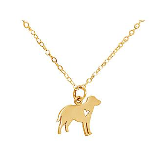 GEMSHINE Labrador dog necklace pendant. Solid 925 Silver, gold plated or 45cm necklace. Gift for pet owner, mistress - made in Spain
