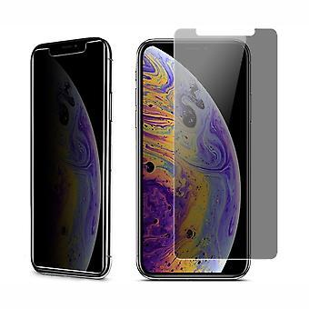 Apple iPhone XS Max Blickschutz Panzer Schutz Glas Anti-Spy Glasfolie 9H - 2 Stück