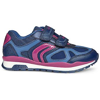 Geox Girls Pavel J848CA Trainers Navy Pink
