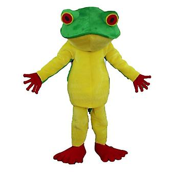 SPOTSOUND of yellow, red and green, very successful frog mascot