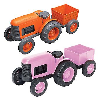 Green Toys Farm Tractor Toy with Detachable Trailer BPA Free 100% Recycled