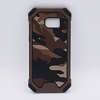 Für Samsung S7 Camouflage Tasche-Brown