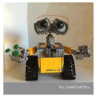 In STOCK H & verzending16003 687 PCs free Idea HXY Robot WALL E Lépin building Set Kits Bricks Blocks compatible with 21303