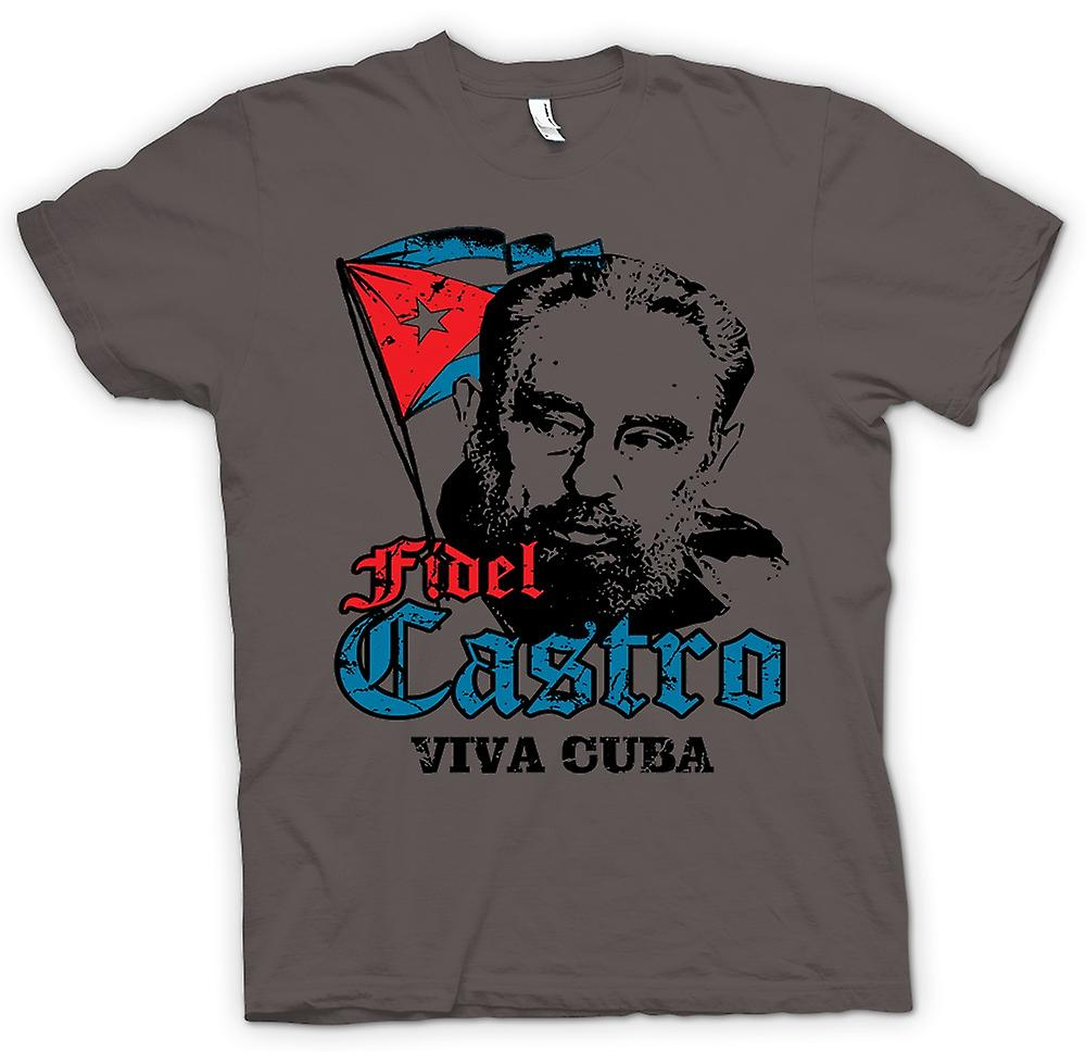 Camiseta mujer - Fidel Castro Viva Cuba - comunismo