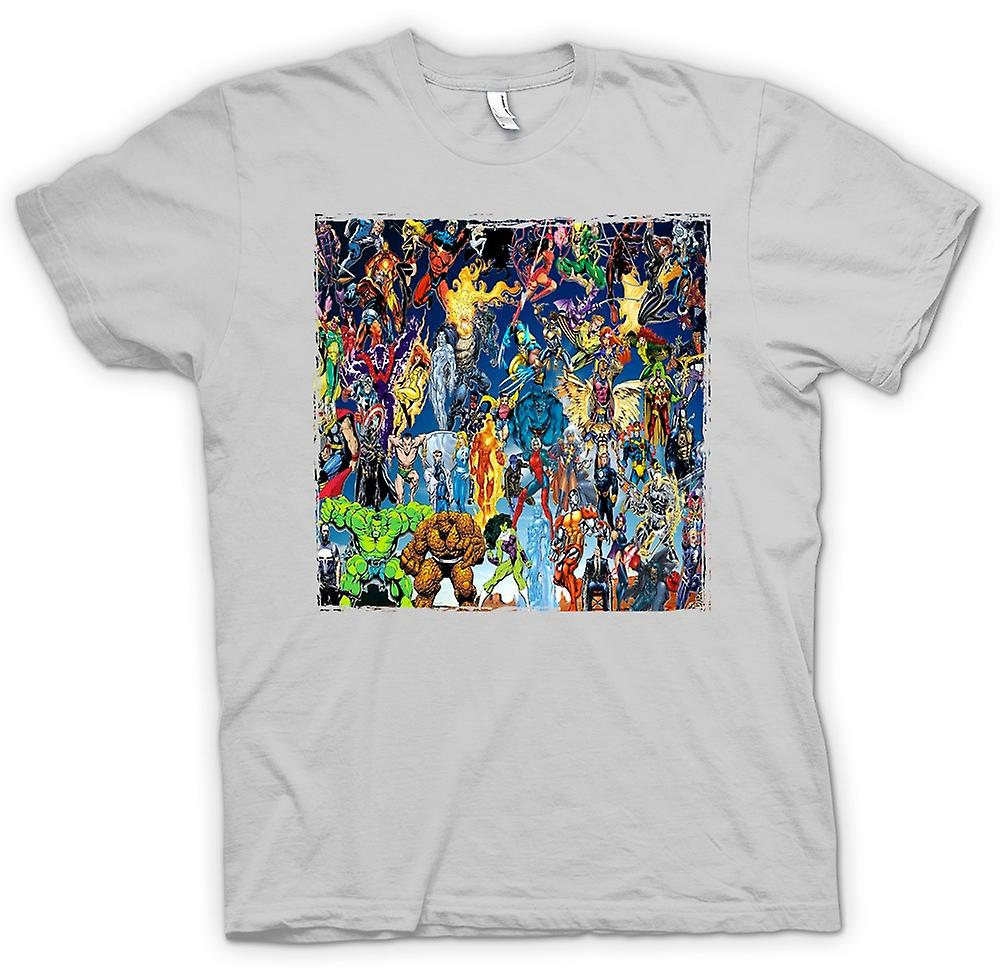 Mens T-shirt - Marvel Comic Super Hero - Collage