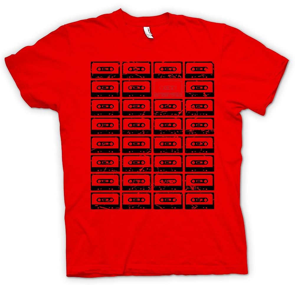 Mens T-shirt - Old School Tapes - Retro