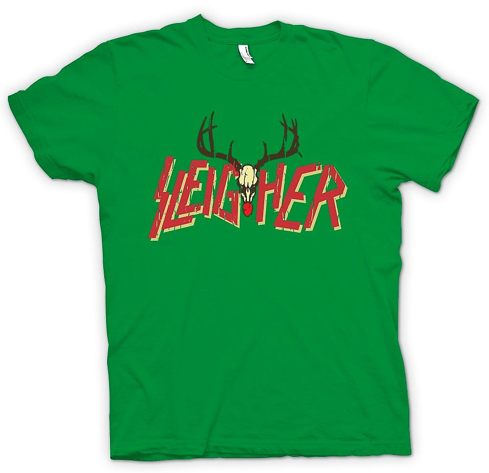 Mens T-shirt - Sleigher Rock Metal Inspired Christmas