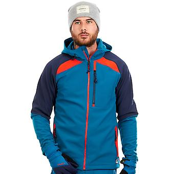 Oneill Lyons Blue Exile Softshell Snowboarding Zip Hoody