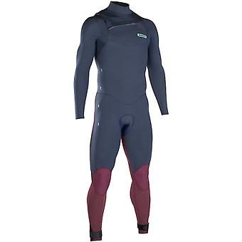 Ion Slate Blue-Red Strike Core Semidry 5mm Long Sleeved Wetsuit