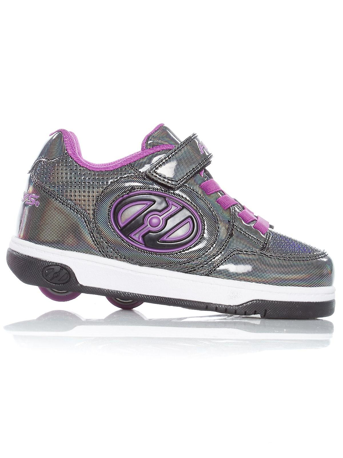 promo code f1bf4 30fed Heelys Black Sparkle-Purple Plus X2 Girls Two Wheel Shoe