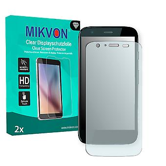 Motorola XT1032 Screen Protector - Mikvon Clear (Retail Package with accessories)