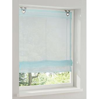 Heine home Raffarin blind transparent turquoise with eyelets and hooks H/W 140 x 120 cm