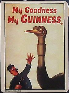 Guinness Ostrich metal fridge magnet