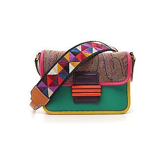 Etro Multicolor Cotton Shoulder Bag
