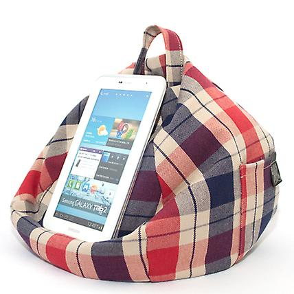 iBeani iPad, Tablet & eReader Bean Bag Stand / Cushion - Union Check