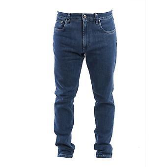 Corneliani Blue Cotton Jeans