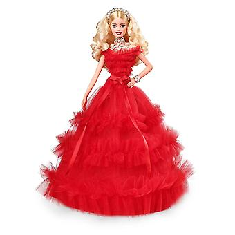 Barbie FRN69 Signature Holiday Doll Blonde with Red Dress