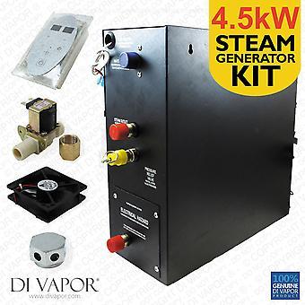 4.5kW Dampfbad oder Dusche Kit | Dampferzeuger 220V | Systemsteuerung | 1 Meter Heisswasser-/Dampfdüse