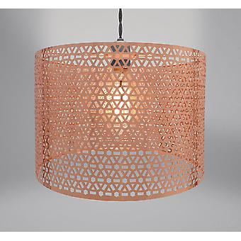 Country Club Metal Light Fitting, Geo Copper