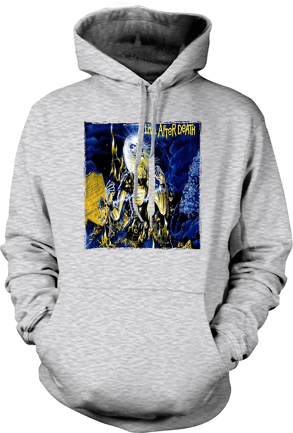 Mens Hoodie - Iron Maiden - Album Art - Live After Death